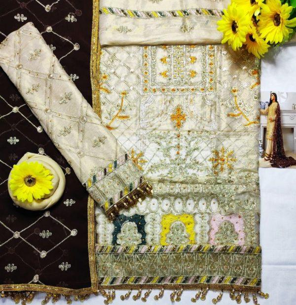 Eman Adeel Master Copy Fabric Dress