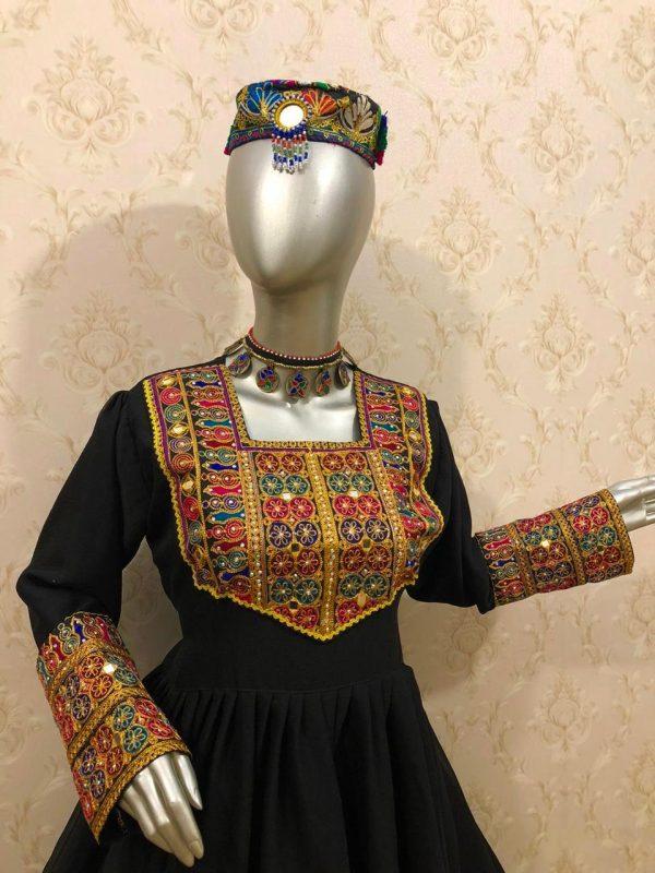 Afghan Chiffon Dress Side Cut Style