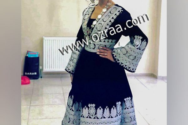 Afghan Dress new Style Pakhtun Cloth in Dark Blue Color