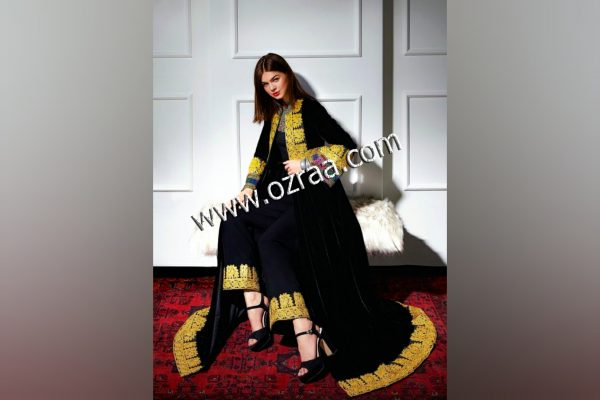 New Style Afghan Cloth for Ladies in Black Color