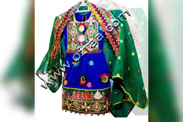 New Design Afghan Dress in Chiffon for Baby