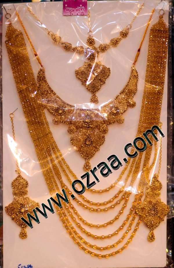 Best Design Long Chains Afghani Necklace, Earrings, Headdress