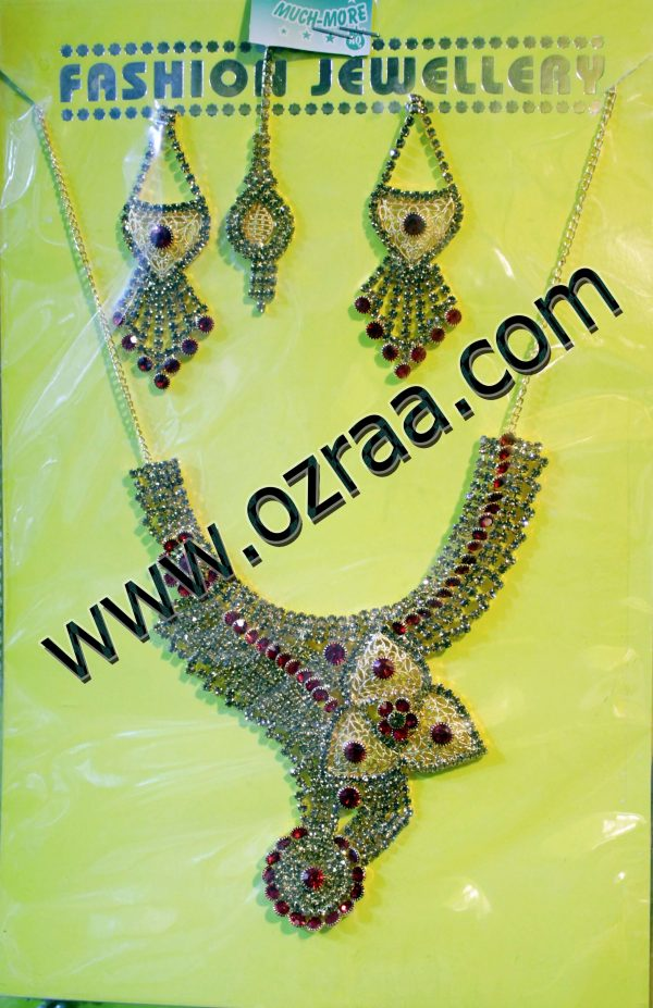Beautiful Afghan Cultural Necklace, Earrings, and Headdress