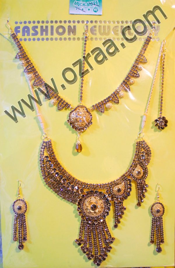 Fancy Afghan Necklace, Earrings, and Headdress Design