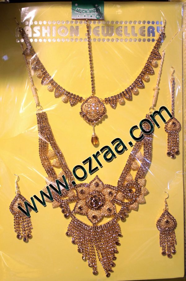 Beautiful Design Afghan Jewelry in Necklace, Earrings, and Headdress