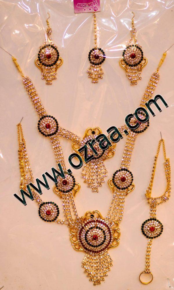 Lovely Design Necklace, Earrings, Ring Bracelet, and Headdress