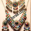 Afghani Stone Style Headdress, Earrings, and Necklace