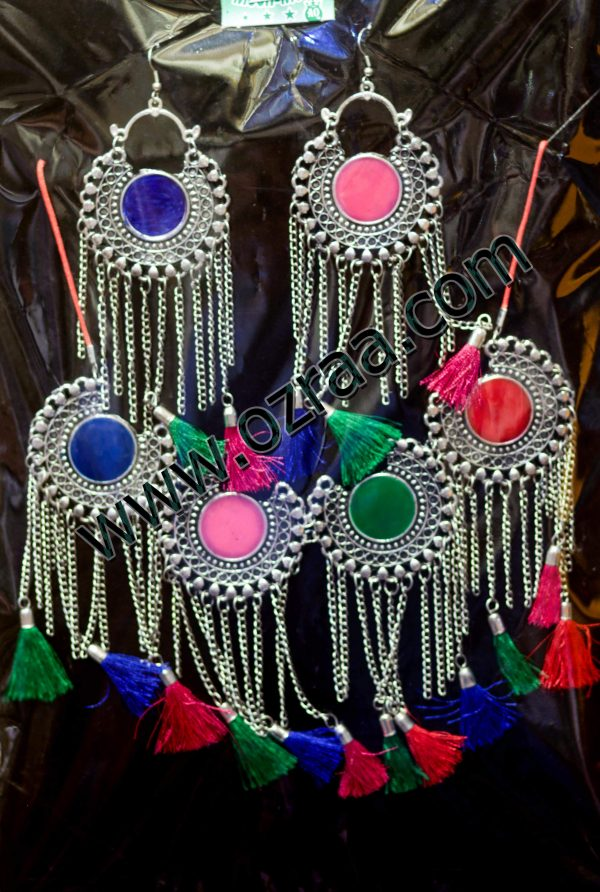 New Design Afghani Cultural Earrings and Necklace