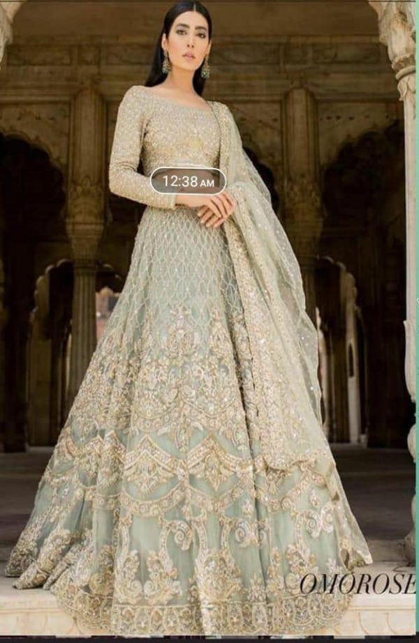 Agha Noor Wedding Collection Heavy Embroidered Suit