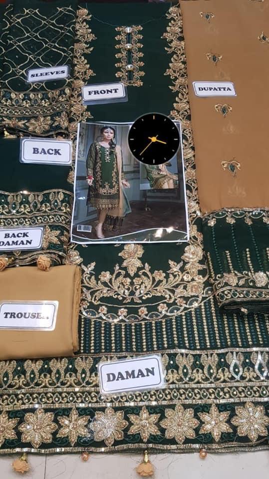 Baroque Mohagni Chiffon Suit Details