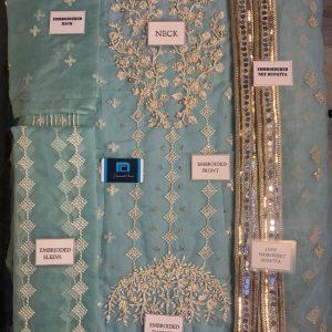 Bench Mark full Organza Suit