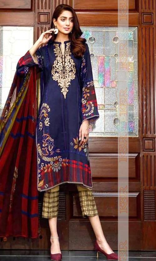 Charizma Fabric Linen and Wool Shawl