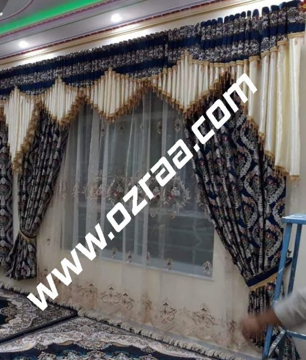 3 Piece Curtain and Blind Design for Living Room
