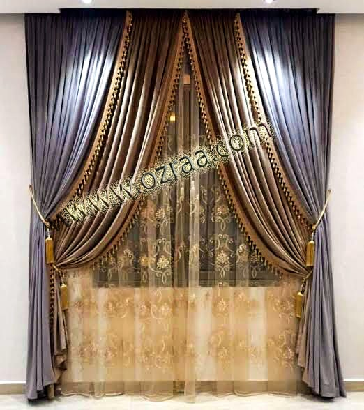 Beautiful and new Design Curtain and Blind for 1 Windows