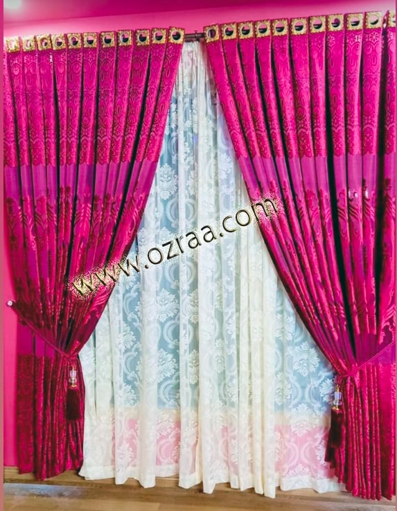 Curtain and Blind Windows Design for Living Room