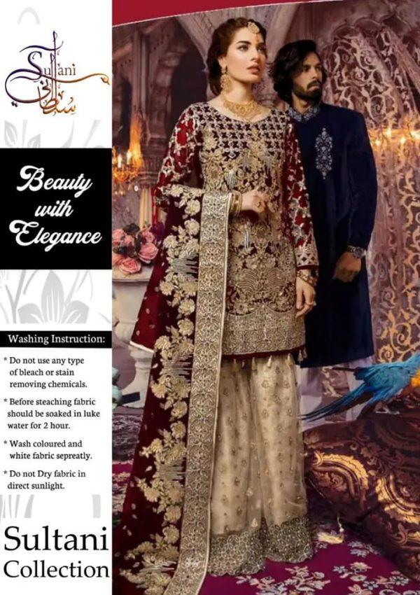 Eman Adeel Fabric Chiffon and Net Embroidered Dress