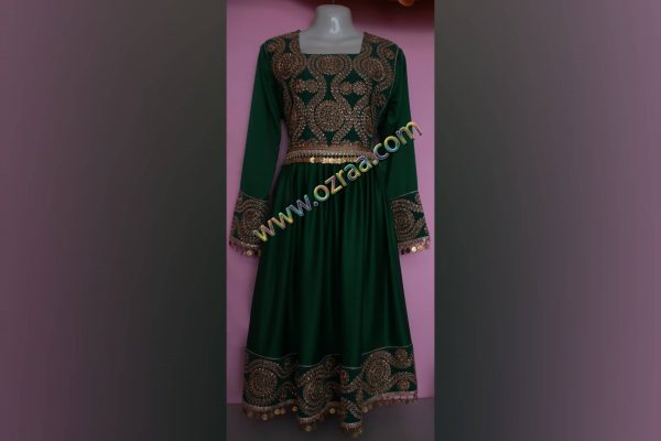 Embroidered Afghani Dress for Girls