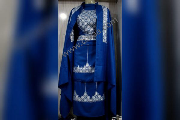 Embroidery Shirt, Skirt, Waist, Tourser, and Shawls Design Dress
