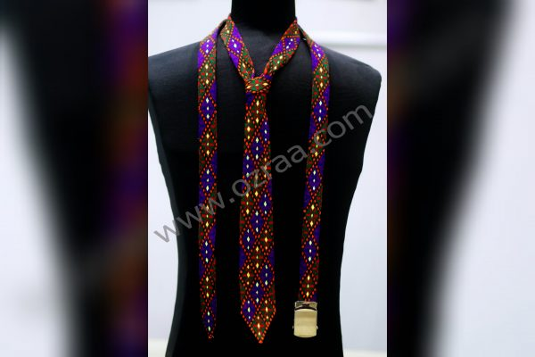 Embroidered Hazaragi Tie and Belt for Man