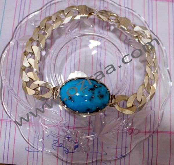 Beautiful Diamond Firoza Stone Bracelet