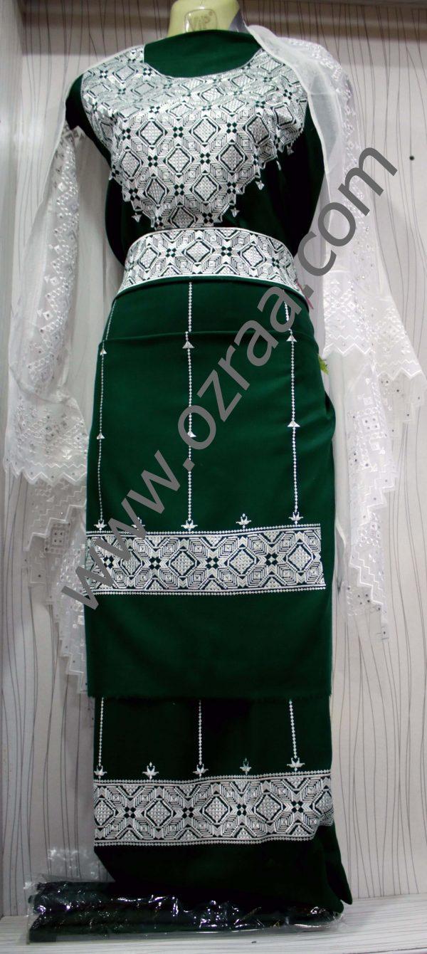 Hazaragi Shall Dress in Green Color