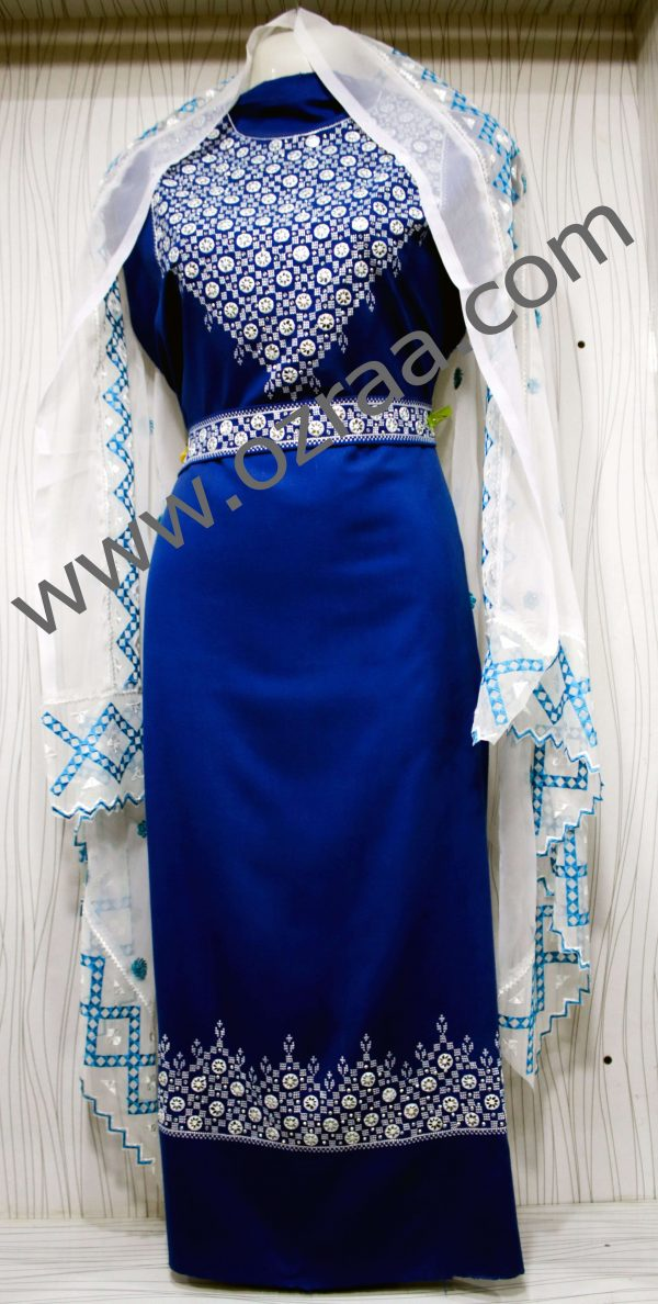 Hazaragi Shall in Blue and White Shawls Color