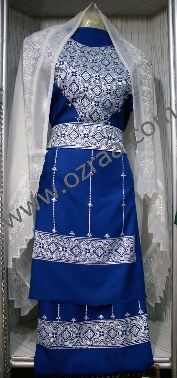 Hazaragi Shall Design with White Shawls in Blur Color
