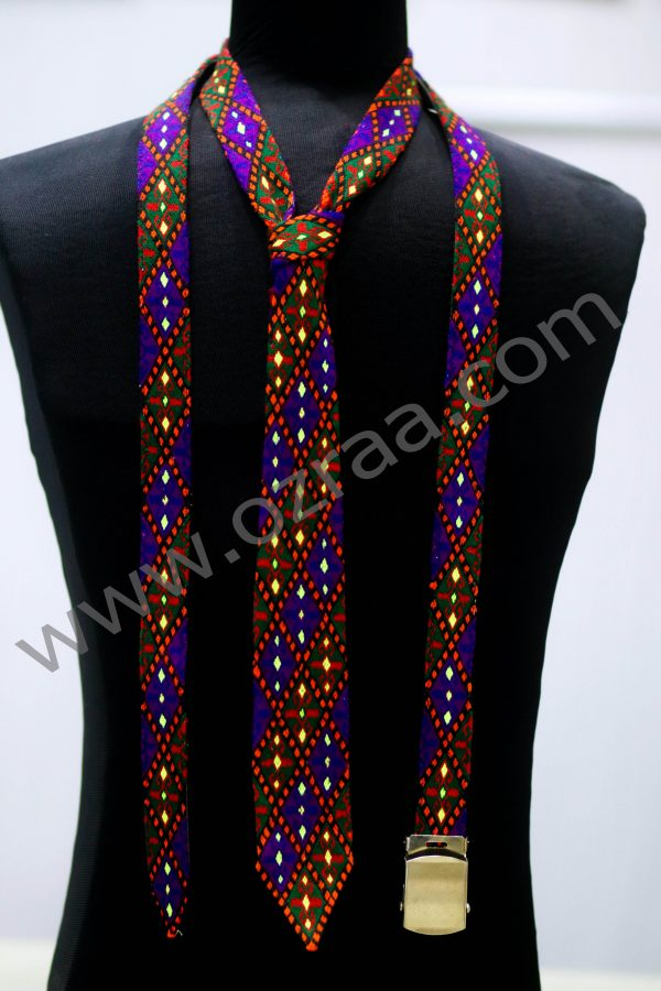 Embroidered Hazaragi Tie and Blet for Man