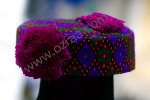 Embroidered Hazaragi Qabtomar Cap for Man