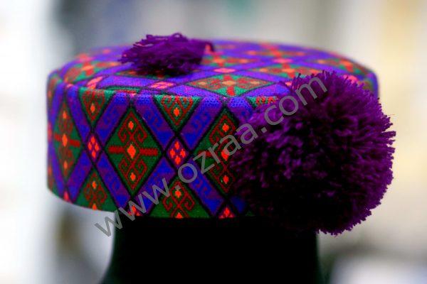 Embroidered Hazaragi Cap with Multi Colors