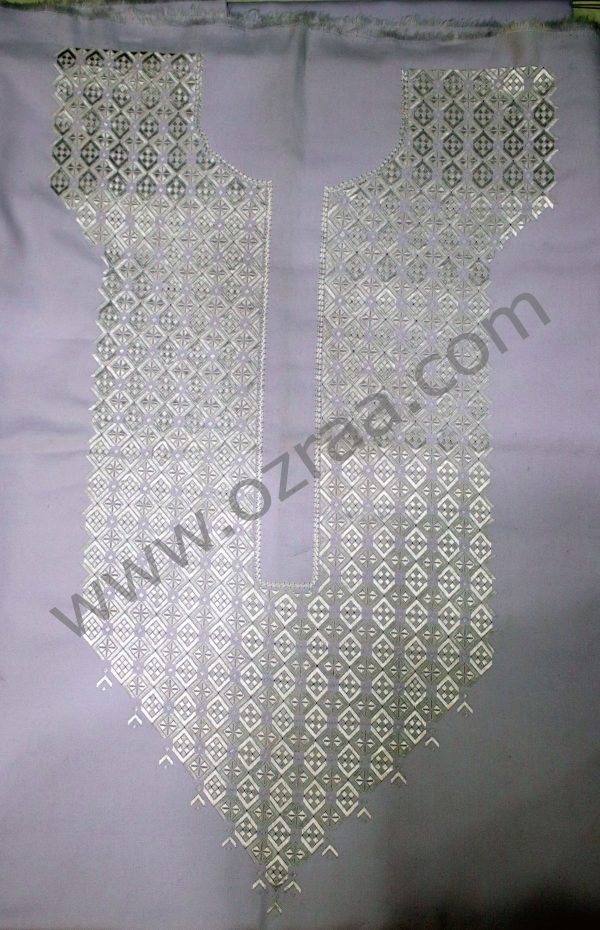 Hazaragi Neck Design in White Color for Man