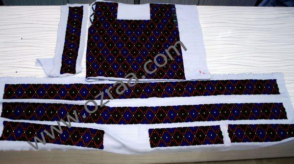 Embroidery Hazaragi Shirt, Skirt, Waist, Tourser Qabtomar Design for Ladies