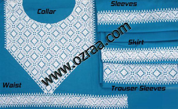 Beautiful Design Hazaragi Shall in Blue Color