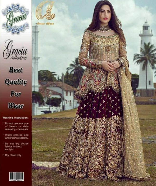 Lehnga Fully Embroidered On Fabric With Sequins Work