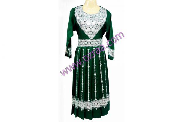 Beautiful New Design Embroidery Hazaragi Shall in Green