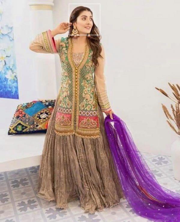 Original ayeza Khan stitched full suit