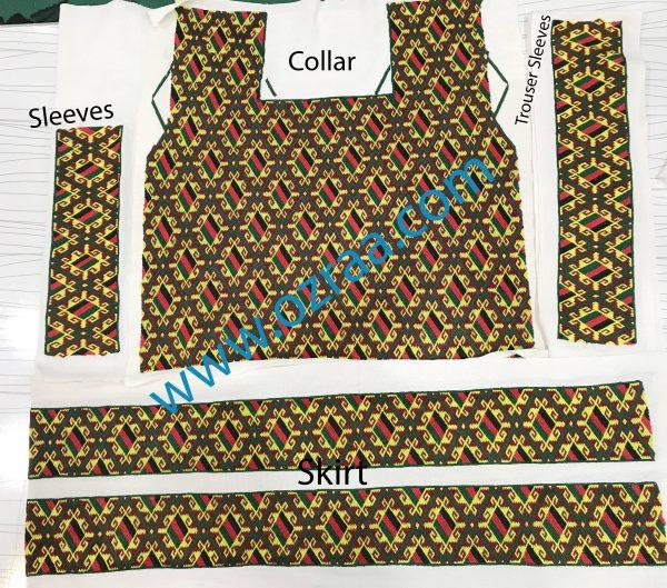 Afghanistan Flag Qabtomar Dress Design