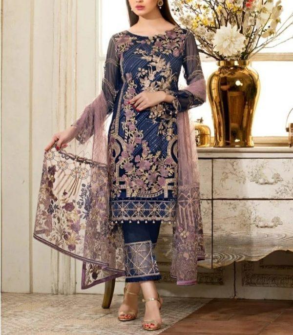 Ramsha Master Replica Fabric Semi Pure Chiffon