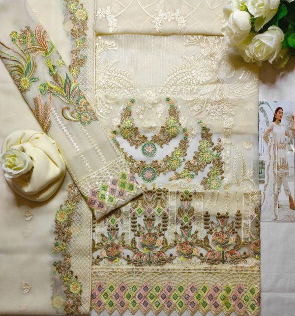 Ramsha Semi Pure Chiffon Master Replica Dress