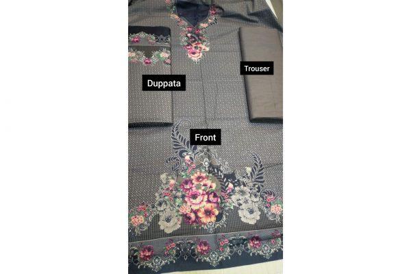 New Design 3pc Cotton Suit Unstitch