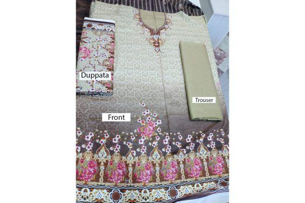 New Style Cotton 3Pcs Suit Unstitched