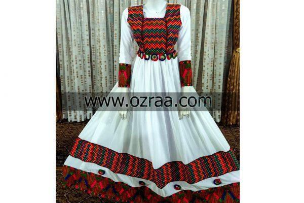 Afghan Dress in Georget and Ubeki Pattern