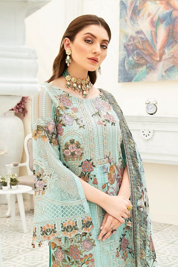 Embroidered Ramsha Collection Chiffon Unstitched Suit