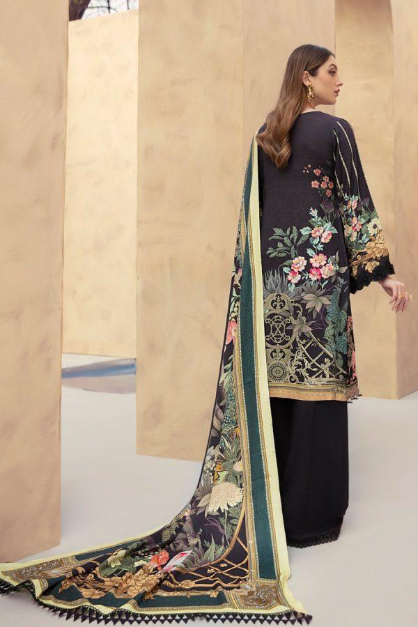 Embroidered Ramsha Dastoor Linen 3Pcs Suit