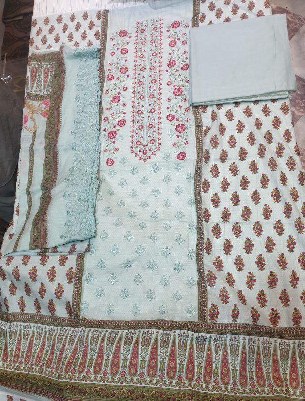 3PCs Lawn Cotton New Design