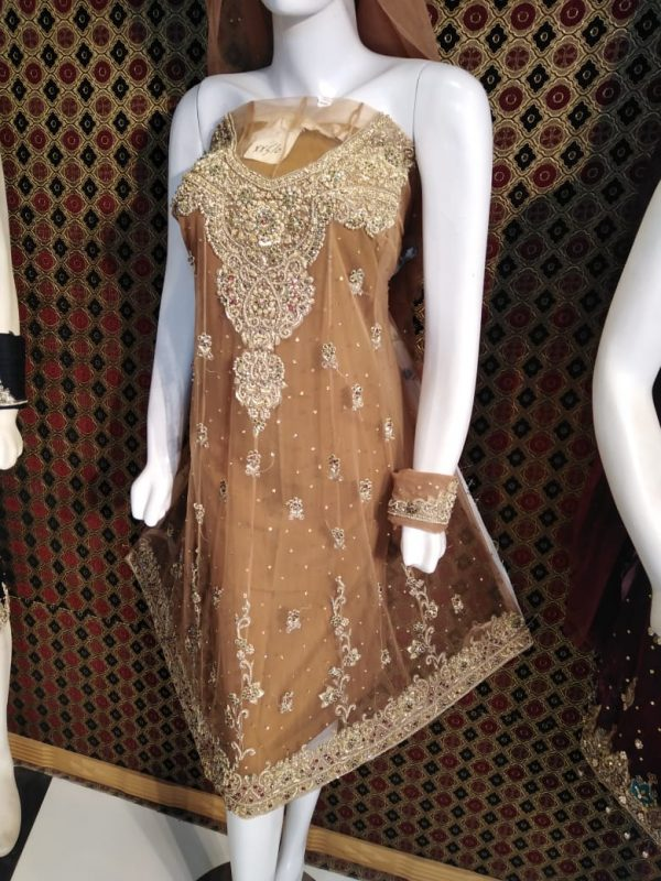 Beautiful Frouk Net Dress for Marriage Party Color