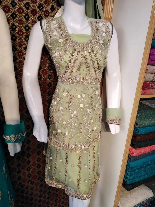 D-Frouk Net Design in Malai/Benarsi Trouser