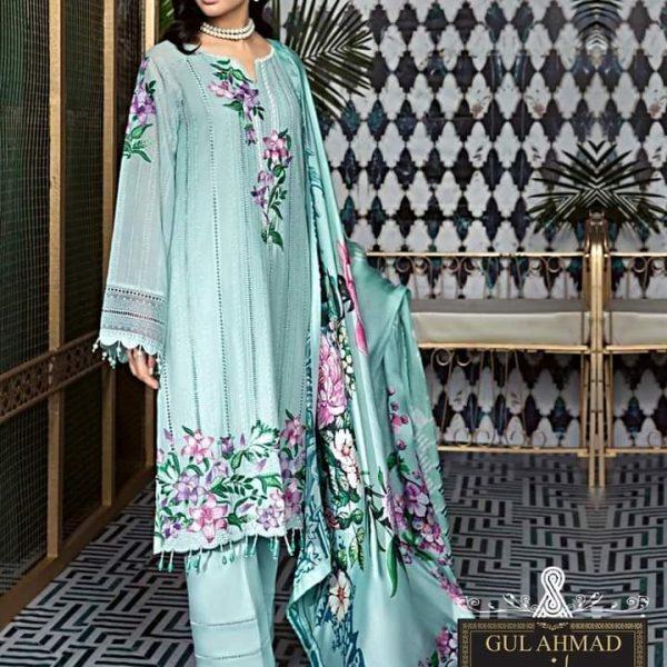 Gul Ahmad New Design Linen 3Pcs Suit