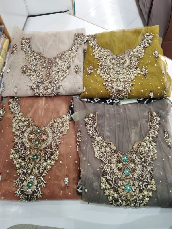 Short Frouk Net in MalaiBenarsi Simple Dupatta