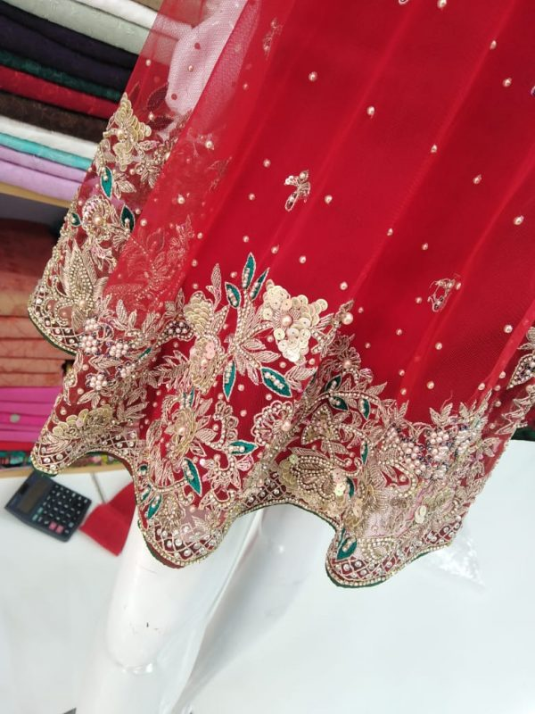 New Design D-Frouk Fency Dress in Red Color